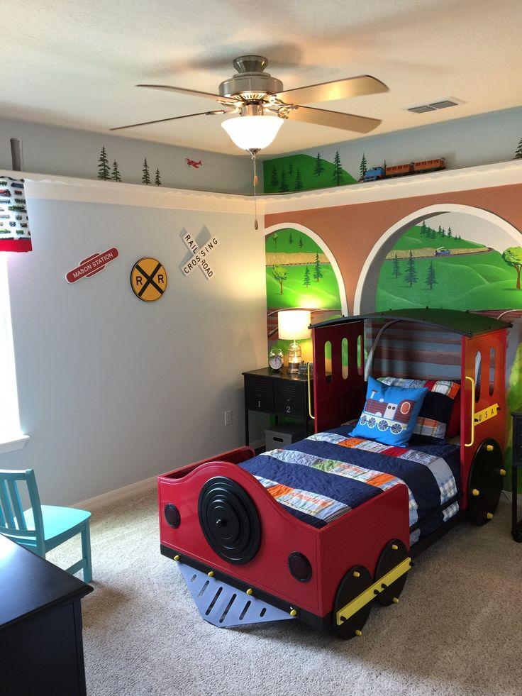 Kid 39 S Bedroom Trains Train Bedroom Boy 39 S Bedroom Frankfurt Pinterest Boys Bedroom