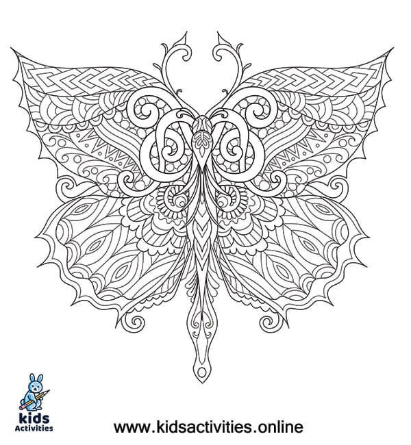 Free Printable Coloring Pages For Adults Kids Activities Butterfly Coloring Page Coloring Books Free Printable Coloring Pages
