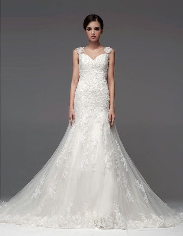 Sweetheart Neckline Wedding Gown With Organza Overlay And Cap Sleeves Is A Romantic Bridal Which