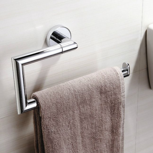 Modern Chrome Towel Ring With Images