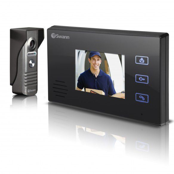 """Swann Doorphone Video Intercom With Colour 3.5"""" Lcd Monitor 