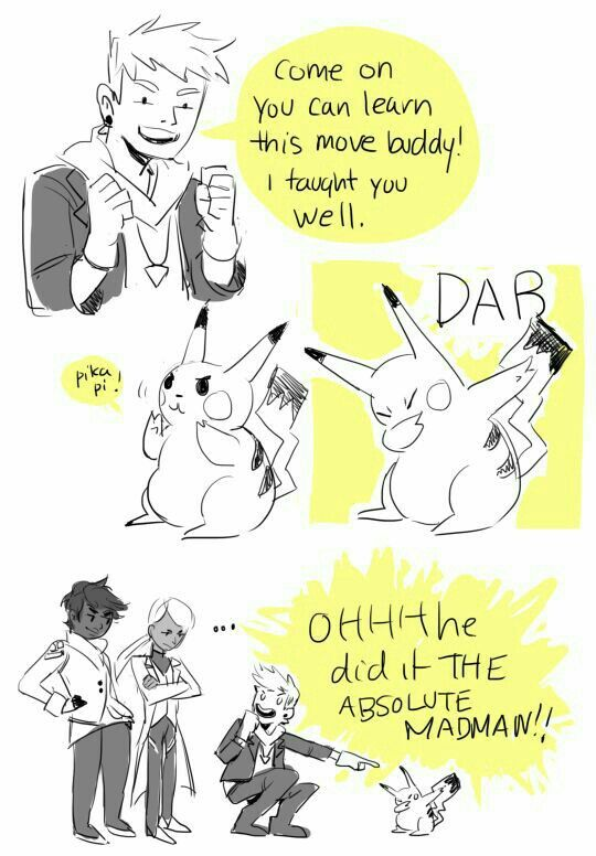 Go Pikachu! Make the DAB move~! xD...our mighty leader, Spark!