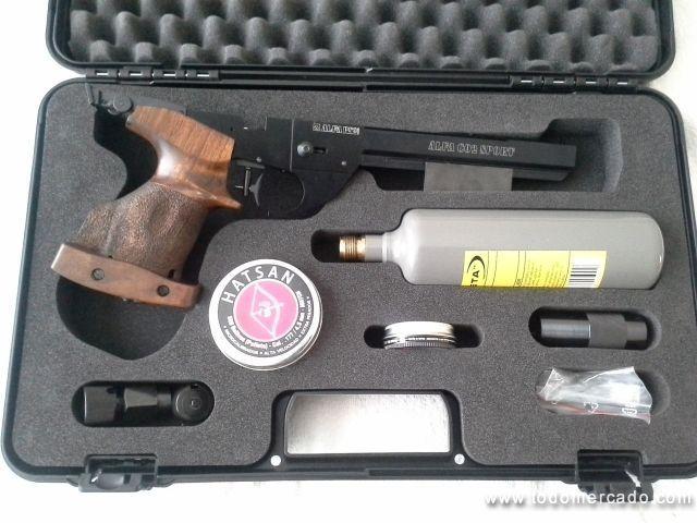 Pistola Alfa Proj de CO2 calibre 4 5 mm Tiro Olímpico Valparaíso Valparaíso