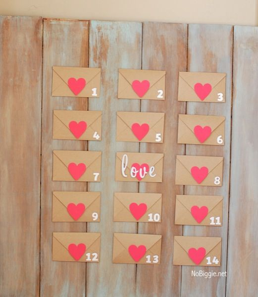 Valentine's day countdown with free printable NoBiggie.net