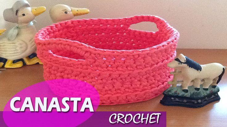 Canasta Trapillo- Tejido a Crochet ideas