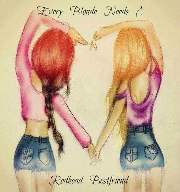Every blonde needs a redhead bestfriend!