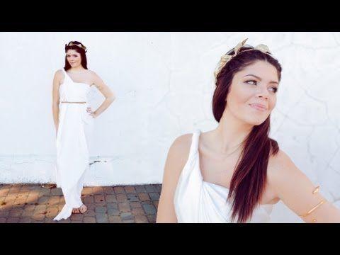 DIY GREEK GODDESS HALLOWEEN COSTUME - NO SEW - YouTube