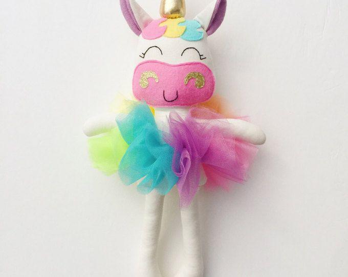 Unicornio la muñeca - tela - bebé regalo - unicornio arco iris - las niñas de habitaciones decoración - las niñas de juguete - arco iris de bebé - felpa de la muñeca - unicornio - arco iris