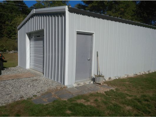 steel metal garage center rd wm kit workshop custom bottom side garages lg entry