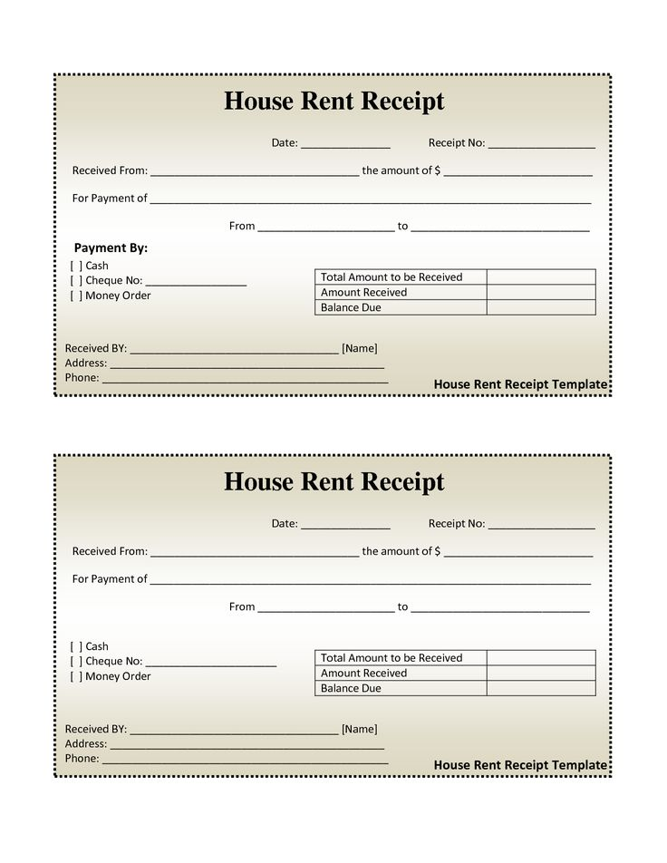 Hra Receipt Format Doc  Editable Receipt Template