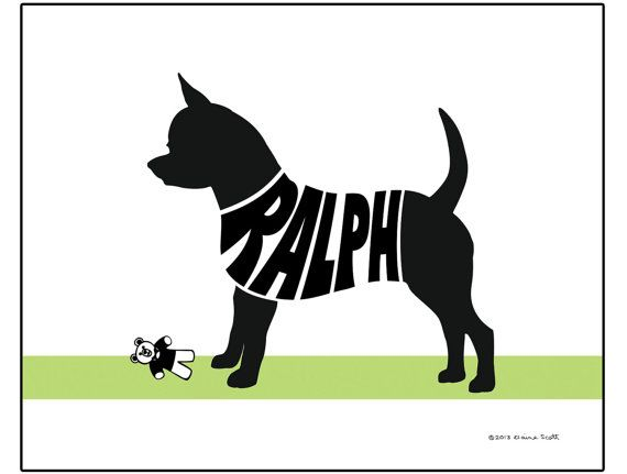 Personalized Short Haired Chihuahua Print  by ElainesPrints, $25.00