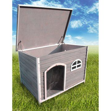Spotty XL Insulated Flat Roof Dog House   Dog Houses At Hayneedle