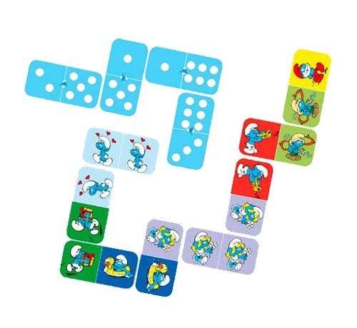 #gry Gra Domino Smerfy - PomocnicyMamy.pl, cena 54