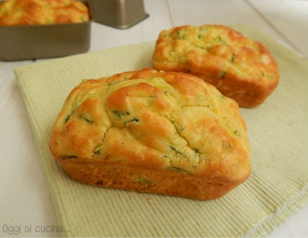 Mini plumcake zucchine e formaggio