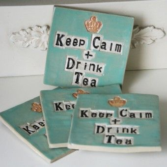 Some more coasters for you to look at! Very popular and I also do Personalised ones like 'Keep Calm and have a Cosmo!' Just email me at juliet@ceramic-gifts.com for more details. £14.99