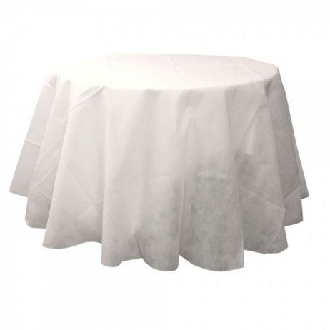 Nappe ronde blanche jetable 240 cm - 6.89€
