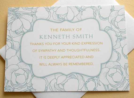 Personalized Funeral Thank You Cards Templates