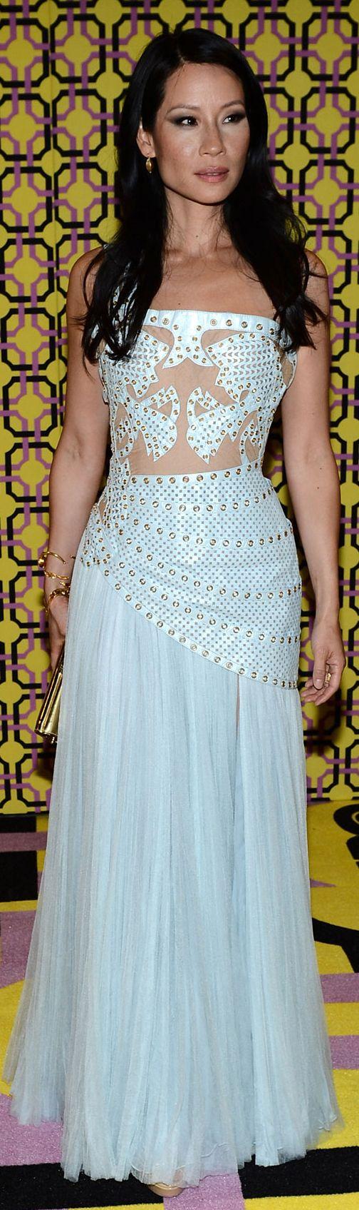 Lucy Liu in Atelier Versace dress