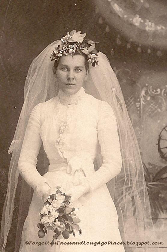 1890s bride photo by r alex wells old photos pinterest for Laura ingalls wilder wedding dress