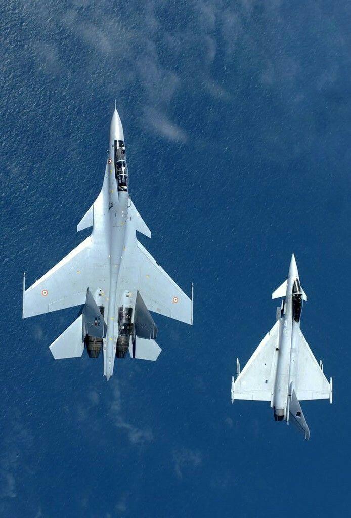 Su-33 and a Eurofighter Typhoon
