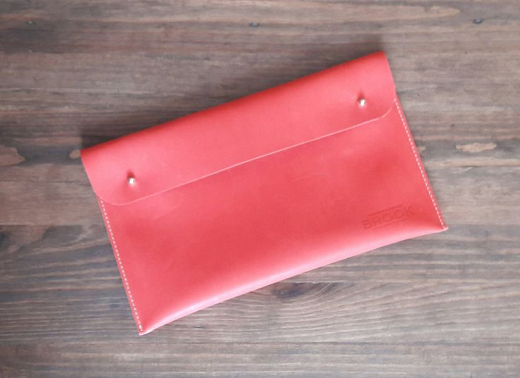 Leather Bag, Clutch, Handmade Purse, Red, Fashion by Brookleathergoods on Etsy