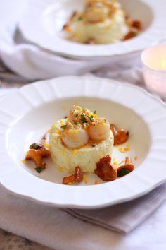 St jaques clementines butter, mushrooms and parsnip puree // St jaques au beurre de clémentines, girolles et purée de panais