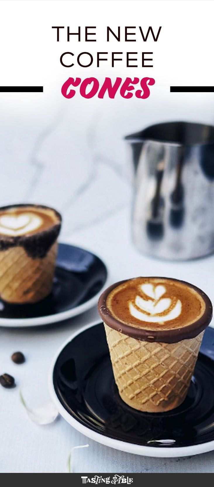 Why wouldn't you want to sip coffee from a waffle cone?