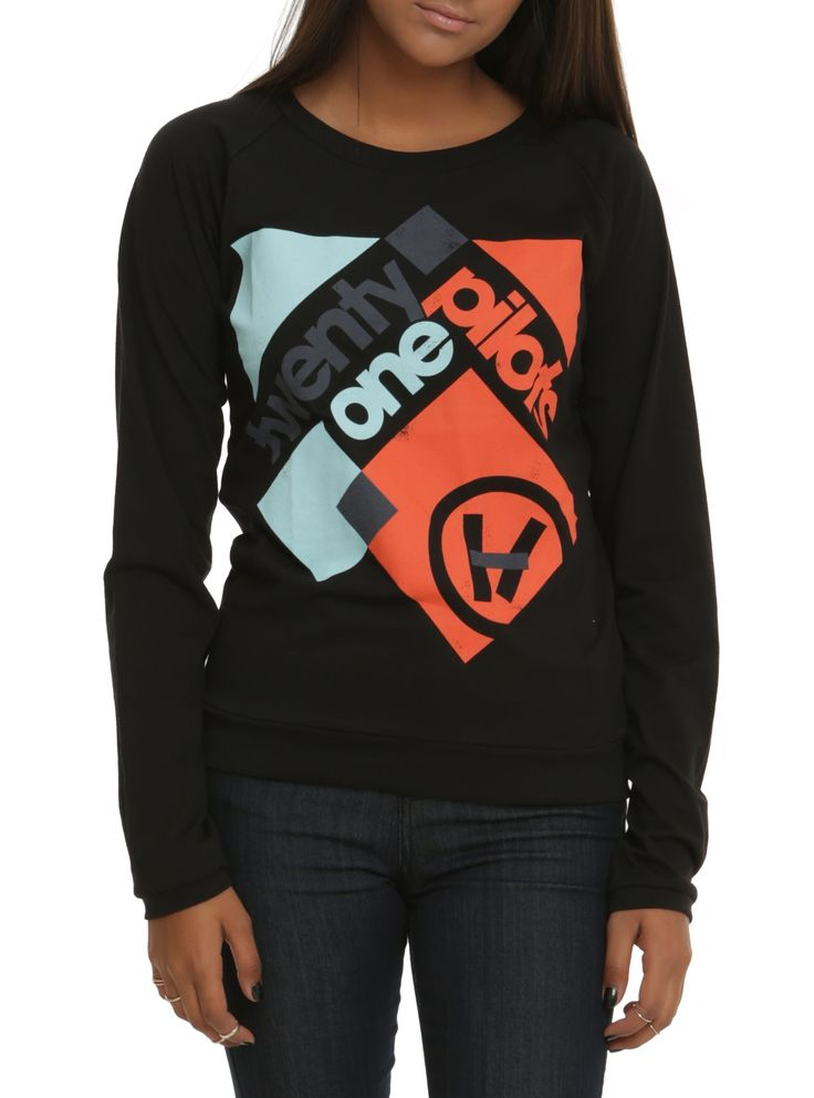 Twenty One Pilots Squares Girls Pullover Top   Hot Topic