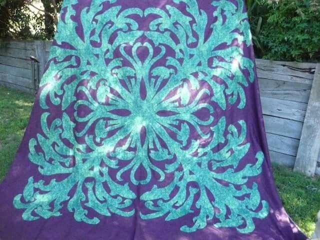 Hawaiian quilt by bev from australia hawaiian quilts hawaiian