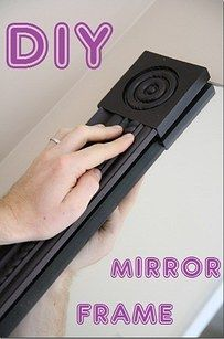 Use square molding to frame a mirror (no miter saw necessary). | 25 Cheap And Easy DIYs That Will Vastly Improve Your Home