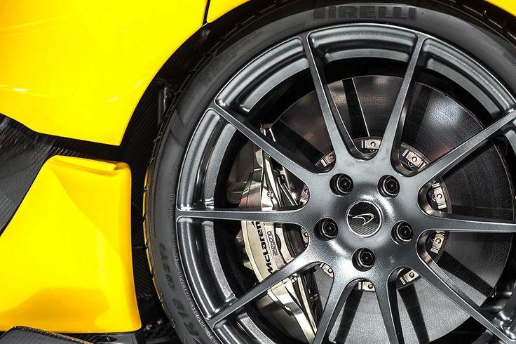 McLaren P1 alien alloy disc brakes at Geneva Moto Show. #mcLaren #p1 #geneva #brakes