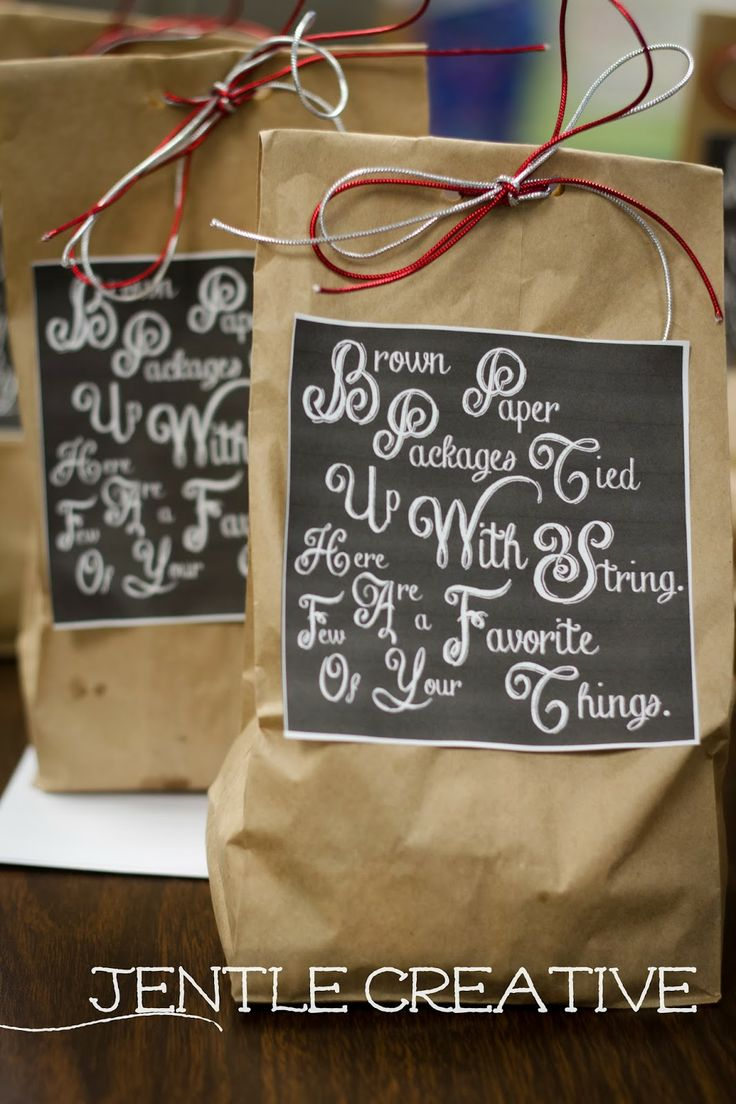 Holiday Gift bags and gifts for neighbors or coworkers. #gifts # ...