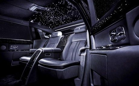 The Rolls Royce Celestial Features A Diamond Studded Interior And Fiber Optic Stars In The Roof