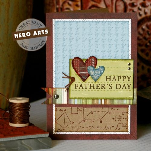 Found so many great fathers card ideas this year, that I'm wishing I hadn't already made one! http://heroarts.com/blogs/club/