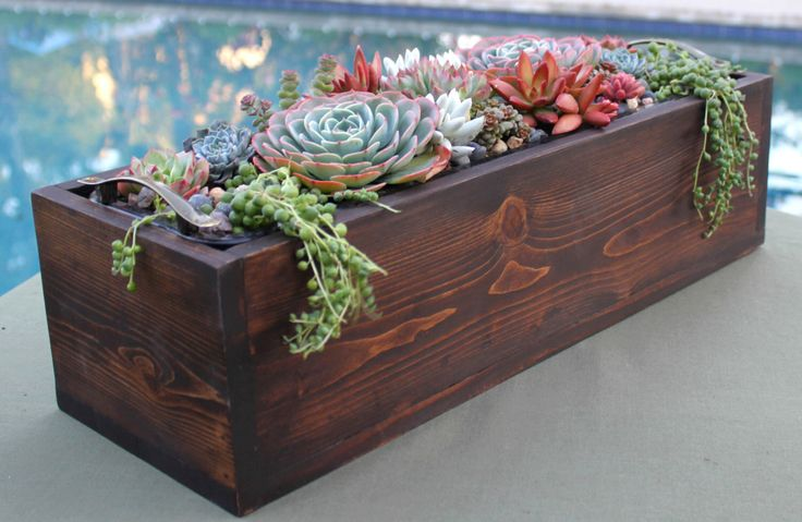 DIY Succulent Arrangement in Rustic Handmade Wood Planter, Succulent Centerpiece, Rustic Wedding Centerpiece, Unique Mother's Day Gift by AnniesGardenAndPatio on Etsy https://www.etsy.com/listing/257457103/diy-succulent-arrangement-in-rustic