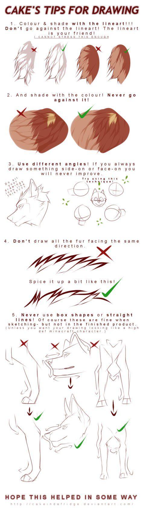 tutorial|Cake's tips for drawing by Cakeindafridge