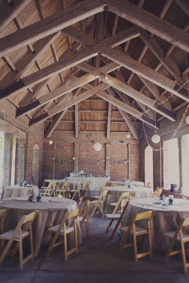 Vintage Handmade Wedding Pavilion Twinkle Lights And