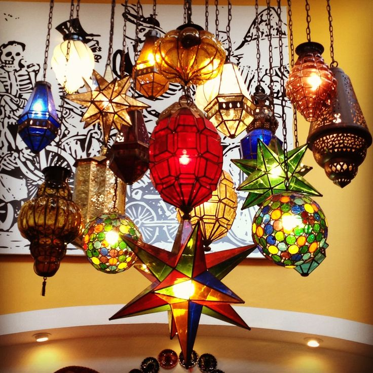 Mexican Lights from a shop in Puerto Vallarta - wouldn't want them all, just a few spread out thru house house!