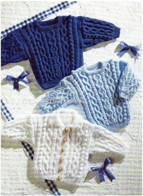 Baby / childs / childrens cable jumper / sweater & cardigan -16 to 24 inch chest…