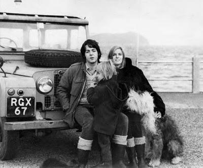 Paul McCartney and MarthaHappy Birthday, Linda Mccartney, Paul Mccartney, Land Rovers Defender, Old English Sheepdog, Doces Paul, Beatles, Families, Linda Eastmanmccartney