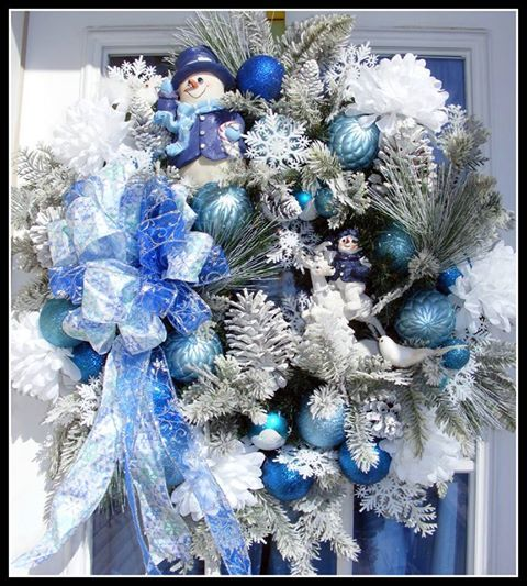 358 Best Blue Christmas Images On Pinterest
