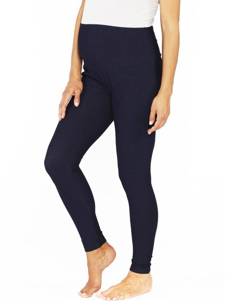 High Waist Tummy Support Jegging in Navy Denim, $34.95, are the jeggings that promise to be the envy of all your pregnant friends! Who says you have to compromise style for comfort?