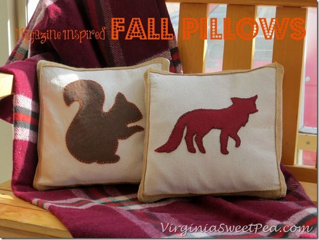 Magazine Inspired Fall Pillow.  To cute with something different on them.  Great gift idea.
