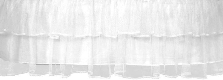 Tadpoles Tulle Crib Skirt - White