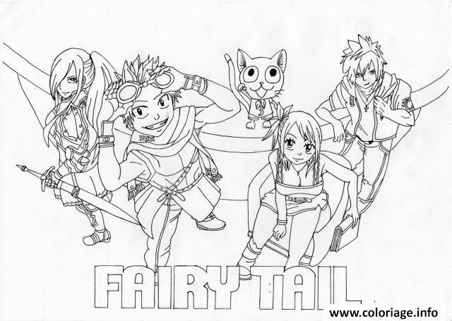 Les 25 meilleures id es de la cat gorie coloriage fairy - Fairy tail a colorier ...