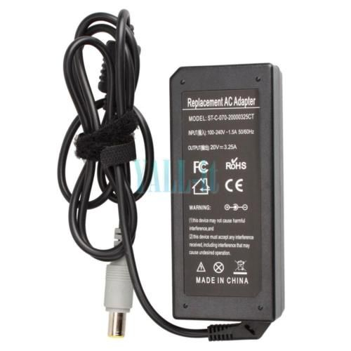 65W 20V AC Adapter for IBM Lenovo ThinkPad R400 R500 X300 X301 Laptop Charger