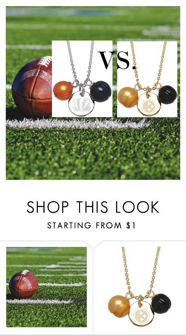 Bengals VS. Steelers by bengarelick on Polyvore featuring Honora #PearlsThatGoWith #NFL #HonoraPearls