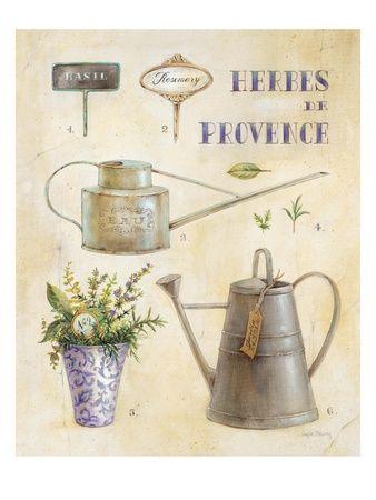 Vintage Garden Poster Impressão giclée