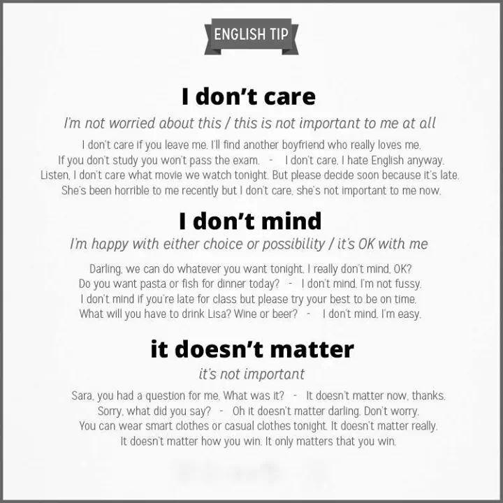 Care, mind, matter