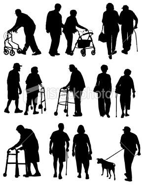 Elderly People Royalty Free Stock Vector Art Illustration